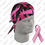 Zan Headgear Flydanna , 100% Cotton, Pink Ribbon, Black