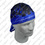 Zan Headgear Vented, Flydanna , 100% Polyester Mesh, Flames, Royal Bl